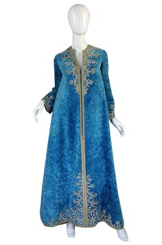 This 1960s Crystal Encrusted Couture Caftan is in the manner of Thea Porter and is jaw dropping!