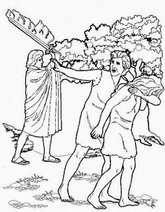 Adam und Eva Sündenfall Malvorlagen Bibel malvorlagen
