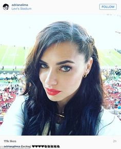 Enjoying the view? The Brazilian beauty shared this photo from the Super Bowl at Levi's Stadium in Santa Clara, California on Sunday