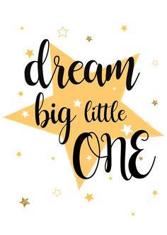 Dream big little one print/Nursery print/ Wall Art/ Home Decor Typography Prints, Quote Prints, Wall Art Prints, Lettering, Bedroom Prints, Nursery Prints, Big Little, Baby Quotes, Cute Quotes