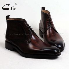 Cheap boots men, Buy Quality boots boots directly from China boots brown Suppliers: cie round plain calf leather boot patina brown handmade outsole leather lacing men boot men's ankle boot Buy Shoes, Men's Shoes, Dress Shoes, Mens Ankle Boots, Lace Up Ankle Boots, Calf Leather, Leather Boots, Men Store, Elegant Man