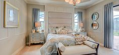 How would you describe this master bedroom?