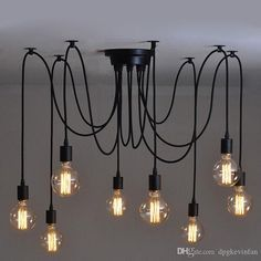 Vintage Edison Industrial Steampunk Loft Chandelier Ceiling Pendant Light Lamp Lighting Pendants Bronze Pendant Light From Dpgkevinfan, $22.62| Dhgate.Com