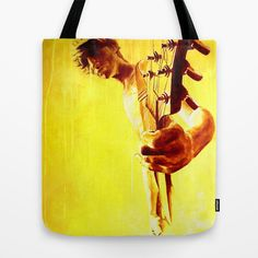 my son is a guitar god Tote Bag by ARTito - $22.00
