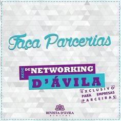 A Revista D'Ávila coloca a sua empresa em uma lista seleta de parcerias com todos os nossos parceiros esse é o poder do nosso Networking!  Acesse a Revista: http://ift.tt/1UOAUiP e entre em contato 19 3329-7741