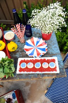 Find all of your Summer Entertaining needs at HomeGoods like adorable paper plates, platters, fun paper straws, trays, and even specialty foods like these cute star and flag cookies.  Sponsored Pin.
