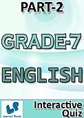 7-CBSE-ENGLISH-PART-2 Interactive quizzes & worksheets on articles, identify gerunds participles, non-finite verbs, prepositions and subjective verb agreement for grade-7 english students. Pattern of questions : Multiple Choice Questions PRICE :- RS.61.00