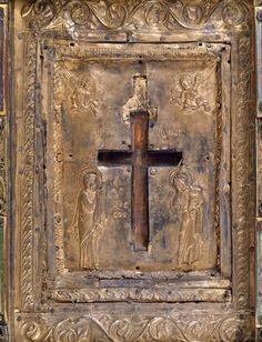 Tableau-reliquaire de la Vraie Croix et couvercle à glissière  Reliquaire…