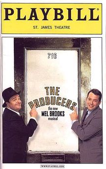 The Producers (musical) - Wikipedia, the free encyclopedia  2001 record Breaking Tony Award winning best Musical ..12 Awards I saw it and Mathew Broderick forgot his lines at one point and need to be prompted ... One of the funniest Musicals of an all time funny movie