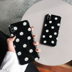 LACK Retro Daisy Flowers Phone Cases For iphone 11 Max XS Max X XR 8 7 6 Plus Cover Fashion Smooth Black Cases Capa - For or Mult Source by CreativeDreamscape cute