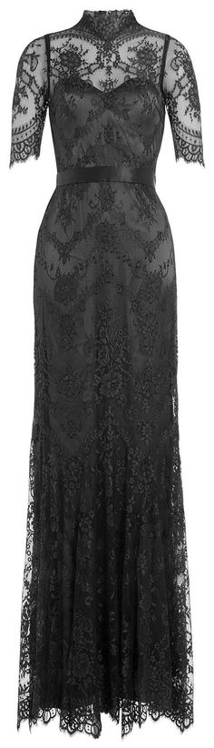black *high neck* lace gown <3 I feel like I'm the only one Who still appreciates these styles