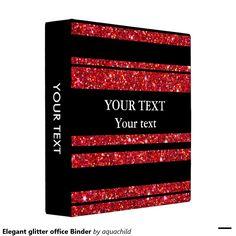 Elegant glitter office Binder