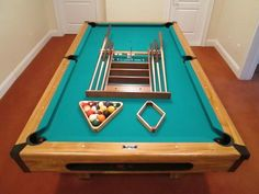 you get everything you see plus more including balls, wall rack, pool sticks, chalk. score keeper, etc. Plus this pool table easily converts into a regulation size ping pong table that also comes with ping pong balls, paddles and net. Worth thousands, but it's yours for only $750 as long as you can pick up in Westchester NY.GoomBarterBoom