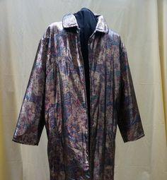 vintage evening coat ITALIAN, METALLIC, XL by blingblingflinghttps://www.etsy.com/listing/205022876/vintage-evening-coat-italian-xl-metallic