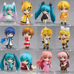 VOCALOID PVC Figure Miku / Kagamine RIN / RUKA Deep sea Teenage Girl 12pcs/set Cute Toys Free Shipping-inAction & Toy Figures from Toys & Hobbies on Aliexpress.com