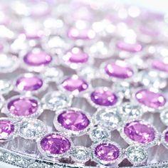 A brilliant romance. Sapphires and diamonds sparkle in a Tiffany Cobblestone pendant. #TiffanyPinterest