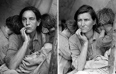 John Malkovich by Sandro Miller - Migrant Mother