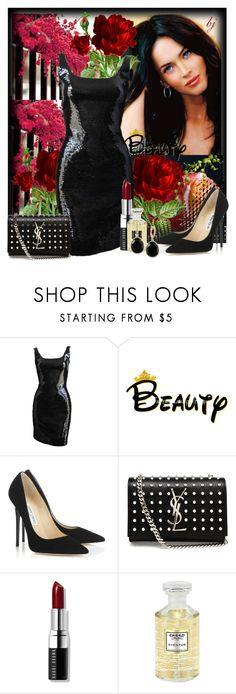 """""""Beauty Inside and Out!!"""" by brenda-joyce ❤ liked on Polyvore featuring Stephen Sprouse, Jimmy Choo, Yves Saint Laurent, Bobbi Brown Cosmetics, Creed, Effy Jewelry, women's clothing, women's fashion, women and female"""