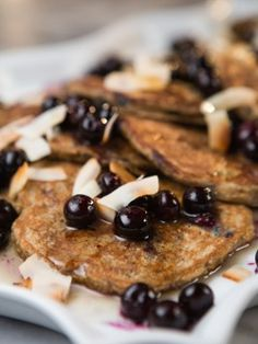 Banana Pancakes with Blistered Berries : Recipes : Cooking Channel/ Tia Mowry At Home