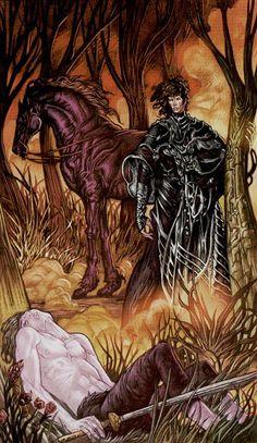 XIII - La mort - Universal Fantasy Tarot par Paolo Martinello