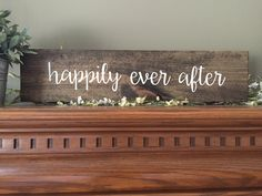 Happily Ever After Sign, And They Lived Happily Ever After Wedding Sign, Reclaimed Wood Sign, Custom Pallet Art, Wedding Date Sign by CreateDesignLive on Etsy https://www.etsy.com/listing/250523816/happily-ever-after-sign-and-they-lived