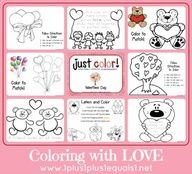 Just Color ~ Valentine's Day Love - 1+1+1=1