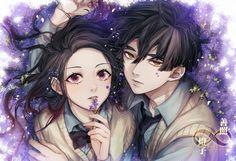 Anime Cupples, Anime Demon, Anime Websites, Beautiful Anime Girl, Dragon Slayer, Manga Couple, Slayer Anime, Cute Anime Couples, Attack On Titan Art