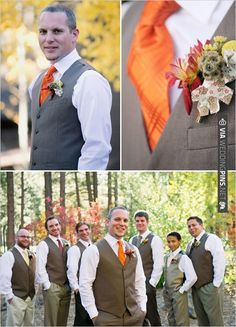 the vests would be much less toasty for a summer wedding than a full tux. | VIA #WEDDINGPINS.NET