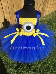 Minion Tutu Dress Blue Minion Tutu Dress by LittleLadybugTutus                                                                                                                                                                                 More