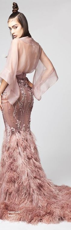 Elio Abou Fayssal Spring Summer 2016 RTW // alira at a formal event Fashion Moda, High Fashion, Womens Fashion, Beautiful Gowns, Beautiful Outfits, Couture Fashion, Runway Fashion, Elegant Dresses, Nice Dresses