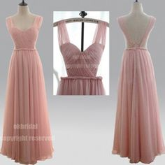 Online Shop chiffon blush pink long bridesmaid dress, off shoulder simple custom prom dresses, BD15321|Aliexpress Mobile