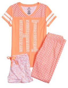 Hi Bye Dot Pajama Set