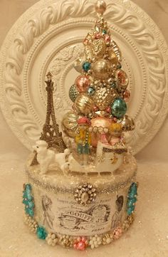 Ms Bingles Vintage Christmas: French Poodle and Little Red Riding Hood Christmas Box ......