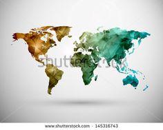 World map, grunge. Eps 10