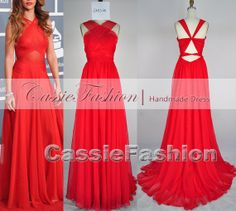 2014 Prom Dress, Red Prom Dress,Backless Prom Dress, Floor Length Prom Dress,Wedding Gown,Party Dress,Prom Gown on Etsy, $139.00