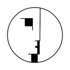 Bauhaus logo created in 1922 by Oskar Schlemmer