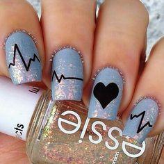 Imagen de nails, heart, and nail art