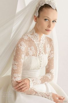 Grace Kelly wedding dress 2012 - Rosa Clara Adorno lace long sleeve bridal gown
