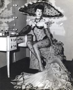 Gypsy Rose Lee in polka dots!