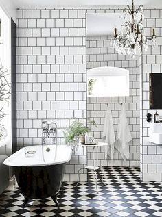 Incredibly stylish black and white bathroom Design Ideas Part Funny Bathroom Decor, Bathroom Rules, Bathroom Floor Tiles, Grey Bathrooms, Bathroom Layout, Bathroom Interior Design, Small Bathroom, Bathroom Bench, Gold Bathroom