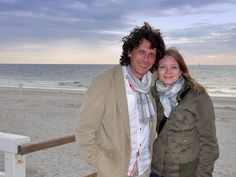 """Strandspaziergang mit Martin """"Martino"""" am Abend in Westerland."""
