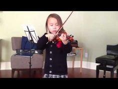 violin 20 [Suzuki Violin School Volume 2, Hunter's Chorus by von Weber]—See more of this young violinist #from_telex22