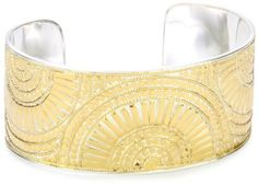"""Anna Beck Designs """"Lombok"""" 18k Gold-Plated Mosaic Cuff Bracelet Anna Beck Designs. $500.00. Made in Indonesia. One size fits most wrists. Bend cuff to mold to wrist. Bend cuff to mold to wrist Made in ID"""