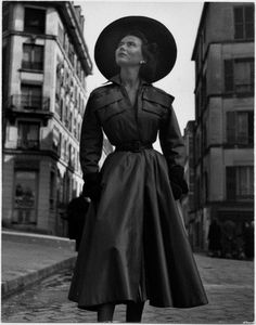 Sylvie Hirsch, Paris 1949 | Sylvie Hirsch was a popular Paris model who turned down numerous offers to to model for American dress houses.