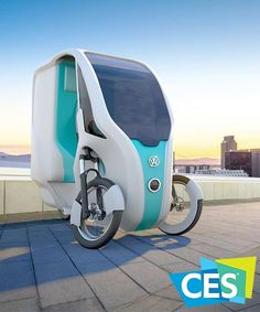 wello presented a future vision of mobility at CES 2020 last week with a solar-powered cross between a bike and an electric car. Electric Tricycle, Electric Cars, Portable Tent, Future Vision, Backyard Garden Landscape, Cargo Bike, Smart Car, Pedal Cars, Cute Cars