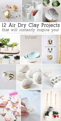 12 Air Dry Clay Projects, Delineateyourdwelling.com More