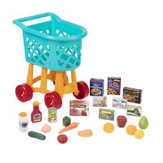 Battat - Grocery Cart ? Deluxe Toy Shopping Cart with Pretend Play Food Accessories for Kids 3 (23Piece) * Details can be found by clicking on the image. (This is an affiliate link)