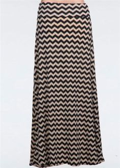 Chevron Maxi Skirt