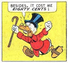 """Eighty cents  """"The Phantom of Notre Duck"""" (1965) by Carl Barks"""
