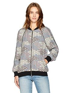 "Women's Equipment Kendrick Bomber Jacket Fluttering Fans print   	 		 			 				 					Famous Words of Inspiration...""Imagination will often carry us to worlds that never were. But without it, we go nowhere.""					 				 				 					Carl Sagan 						— Click here for more from Carl...  More details at https://jackets-lovers.bestselleroutlets.com/ladies-coats-jackets-vests/casual-jackets/product-review-for-equipment-womens-kendrix-fan-printed-bomber/"